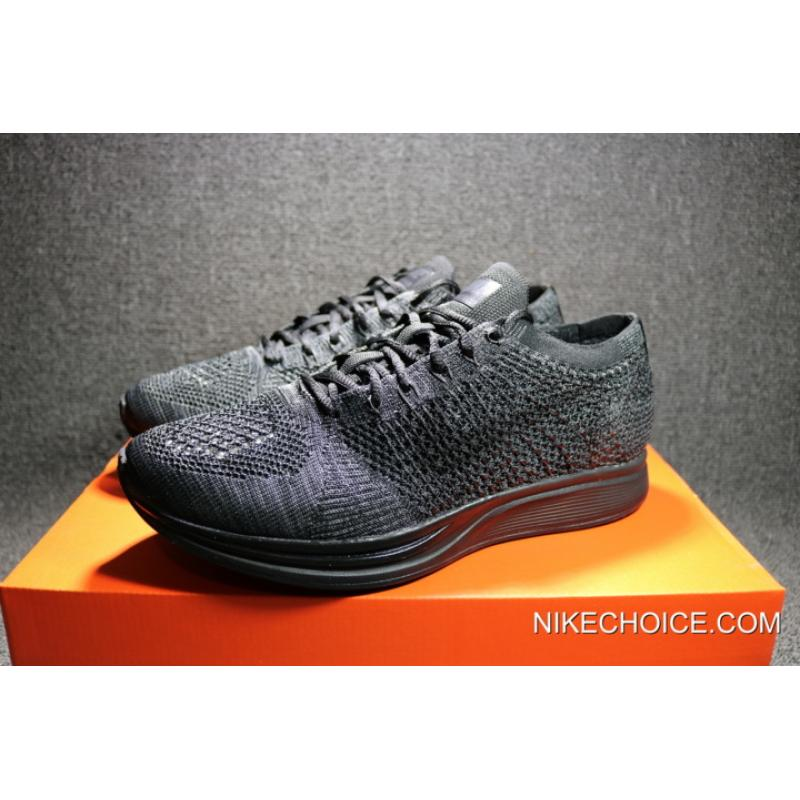 ee5480c9a2c78 ... Women Men New Year Deals Nike Flyknit Racer  Triple Black  ...