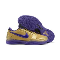 "Undefeated X Nike Kobe 5 Protro ""Hall Of Fame"" Metallic Gold/Field Purple-Multi-Color Latest"